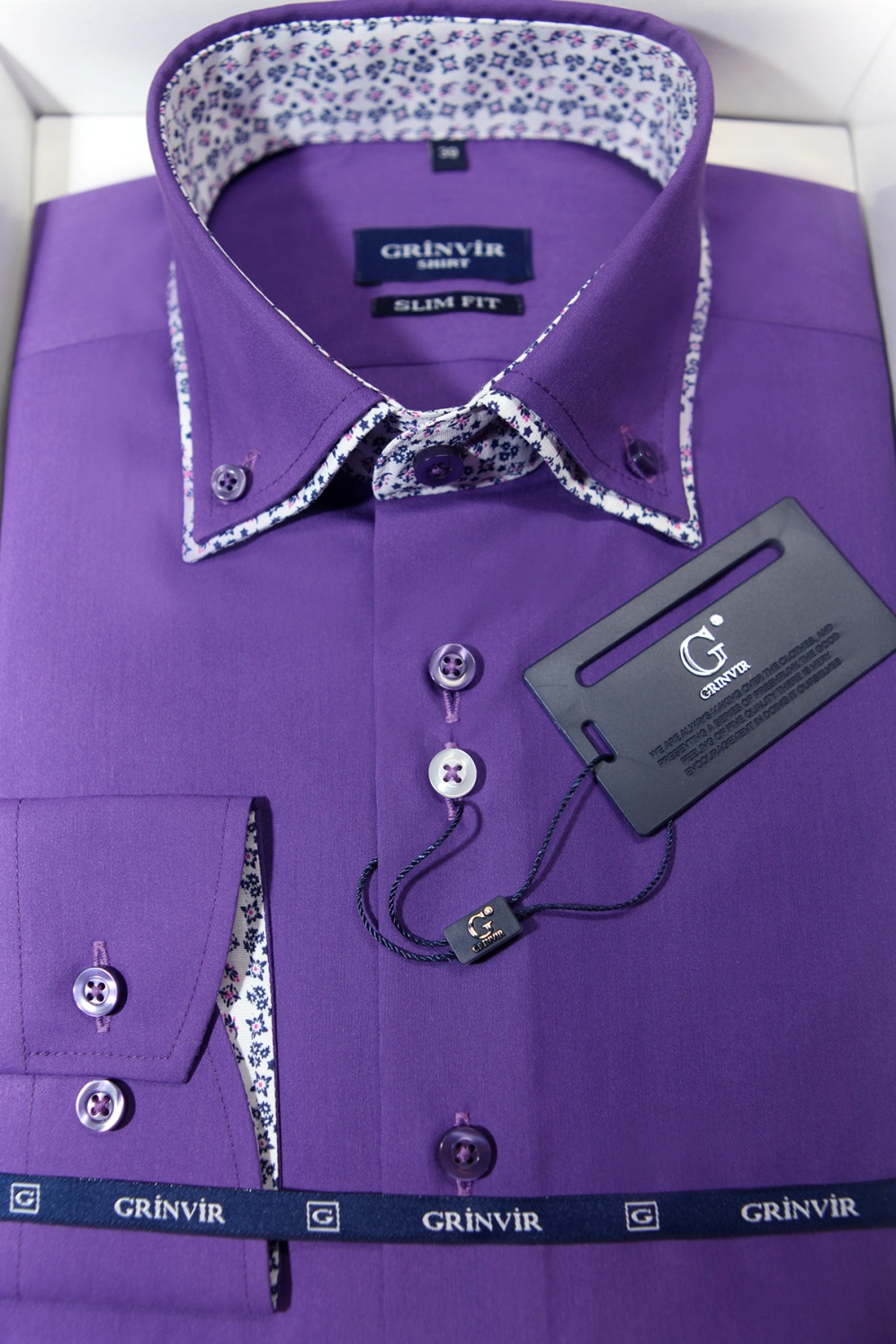 560ae192b724f79 Мужская рубашка Пижон New с двойным воротником